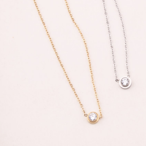 Allie Single Stone Necklace
