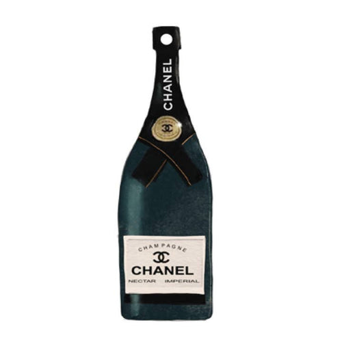 Hanging Ornament- Chanel Champagne Bottle - alliemdesignsboutique