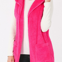 Load image into Gallery viewer, Nessa Sherpa Vest - Hot Pink - alliemdesignsboutique