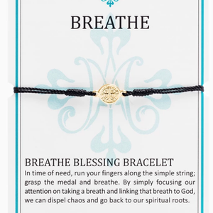 Breathe Blessing Bracelet - alliemdesignsboutique