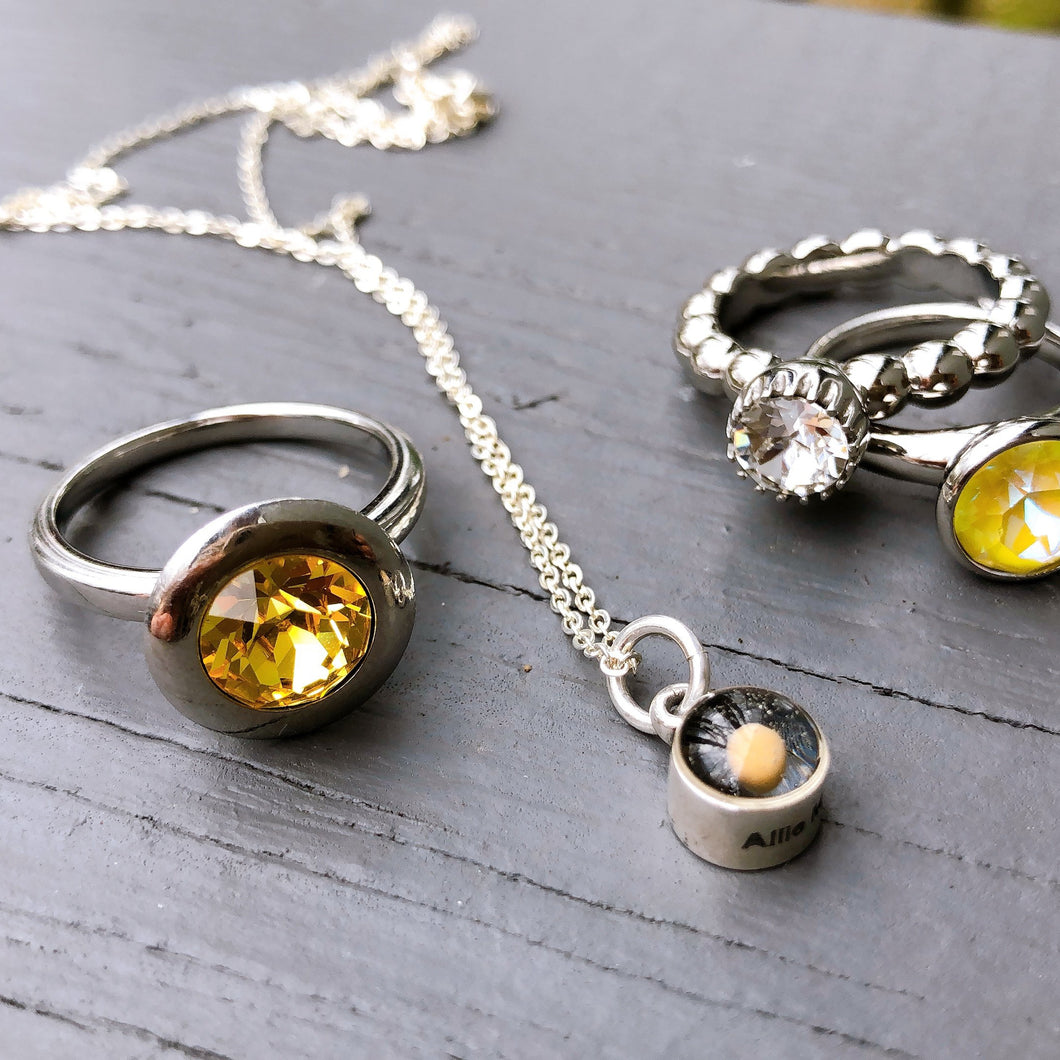 Mustard Seed Necklace Round Silver Small - Silver - alliemdesignsboutique