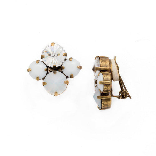Sorrelli Pearl and Crystal Clip on Earrings - alliemdesignsboutique