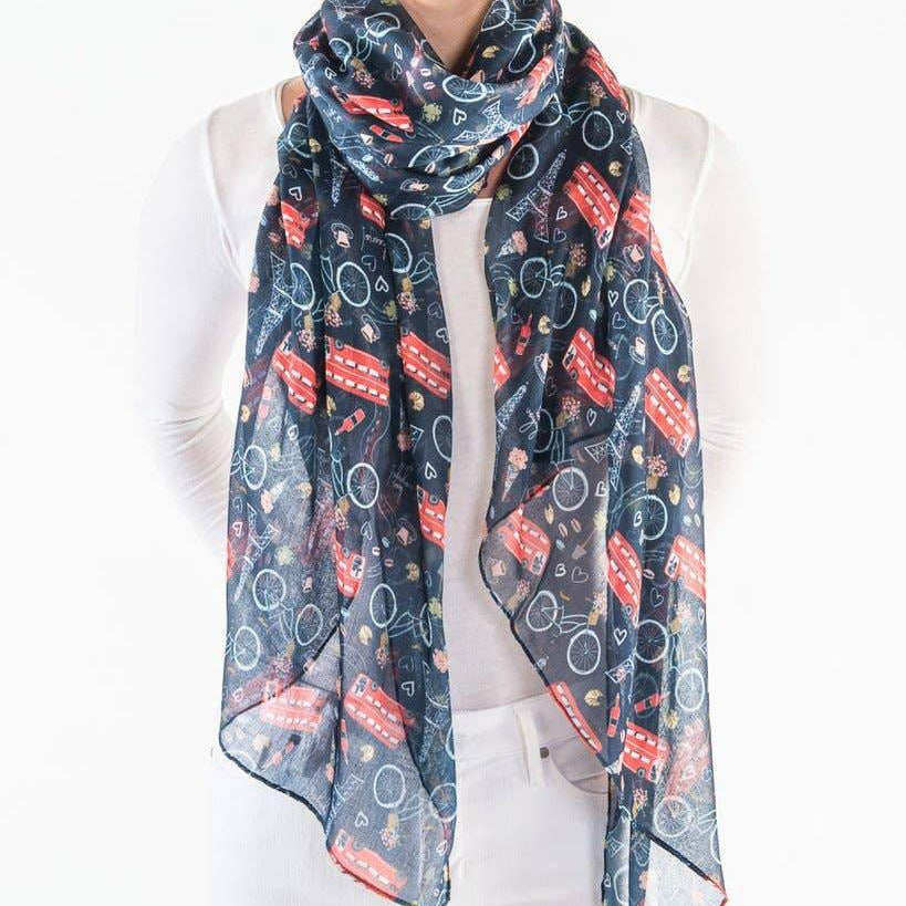 Europe Light Weight Printed Scarf - alliemdesignsboutique