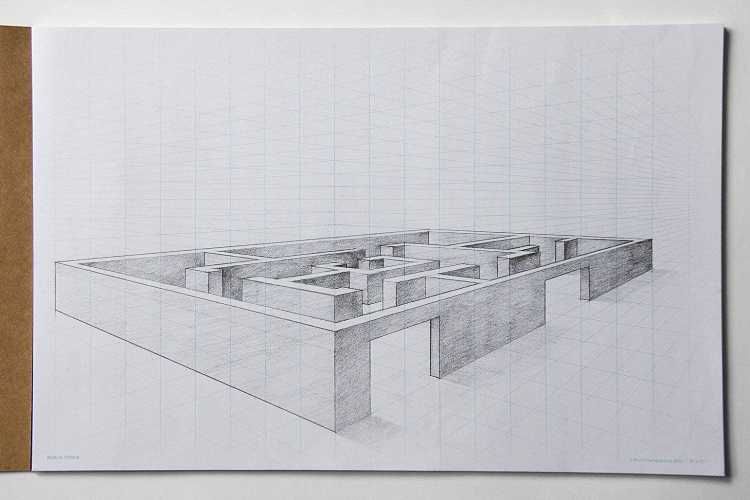"Drawing Perspective (2-Point) Large Sketch Pad | 9"" x 12"""