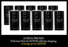 10 Pack - Instant Hair - $199
