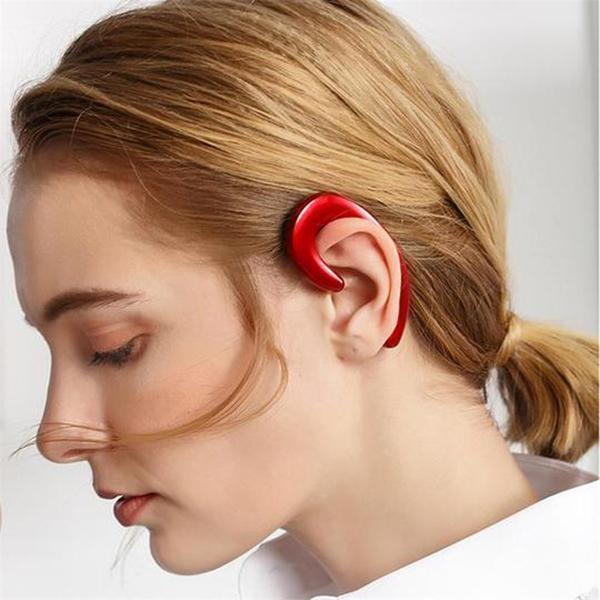 (🎁Christmas Hot-Sale-50%Off)--Bone Conduction Earhook Wireless Bluetooth Earphone