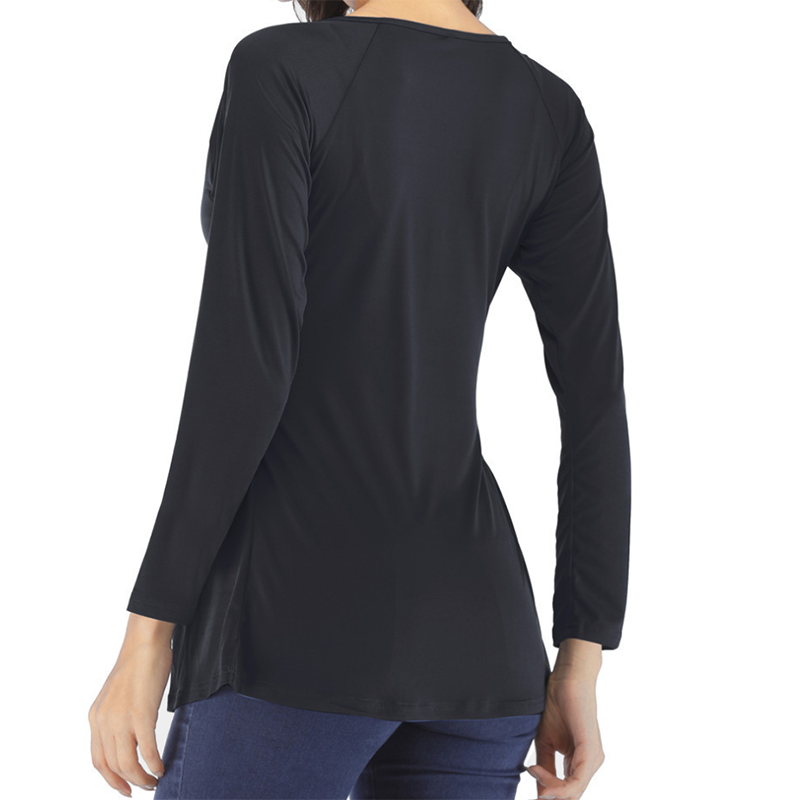 Tuck A Baggy V-Neck Long-Sleeve T-Shirt