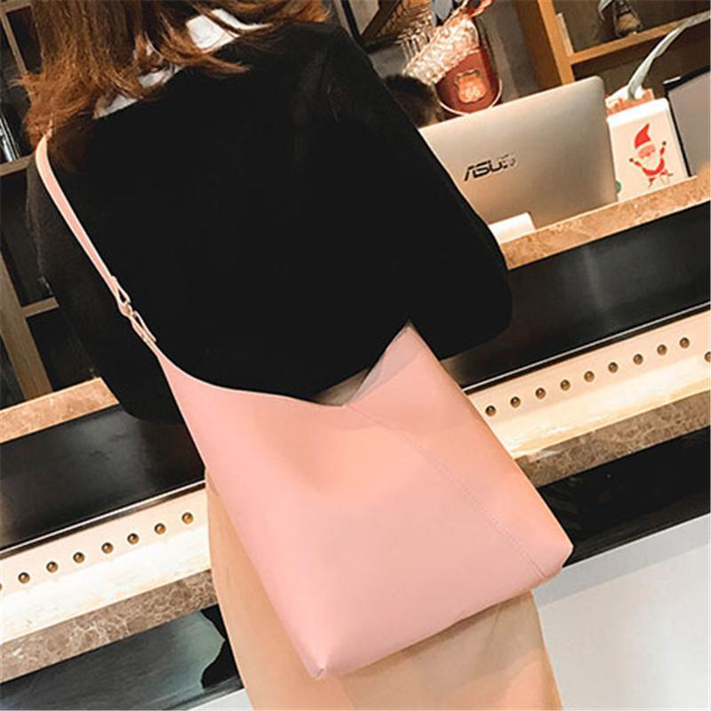 Solid Color Fashion Two-Piece Shoulder Bag