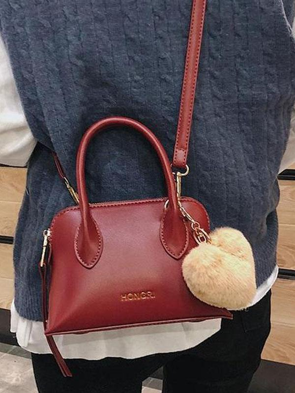 Women Vintage Simple PU shell bag single   shoulder bag Crossbody Bag Handbag