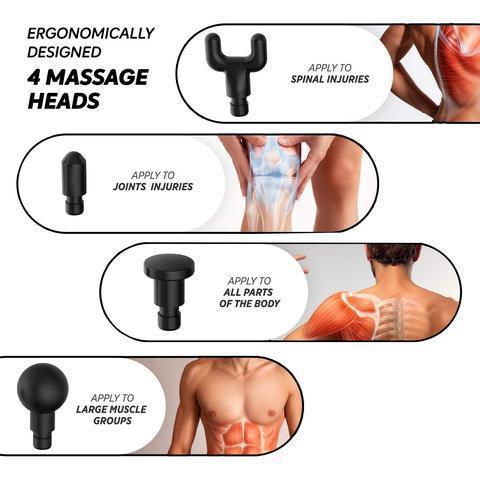 (Last Day Promotion 60% OFF)-4 In One,Relieving Pain,3 Speed Setting Body Deep Muscle Massager