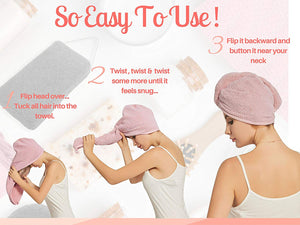(Last day promotion50%Off)--Quick Magic Hair Dry Hat