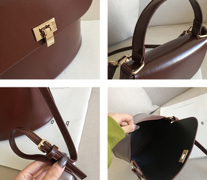PU shoulder bag bucket handbag