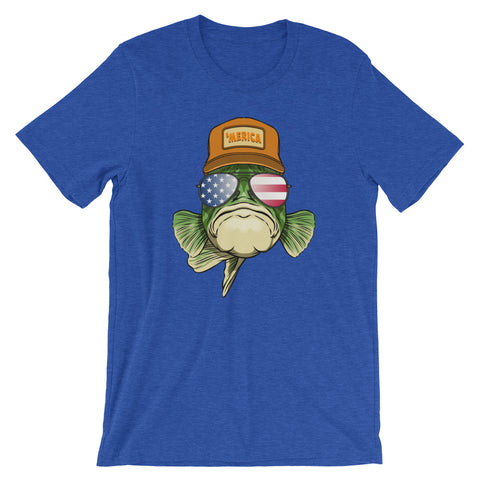 Merica Bass Short-Sleeve T-Shirt