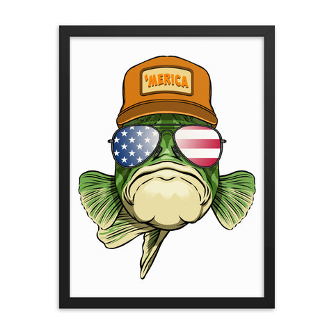 Merica Bass Framed Portrait