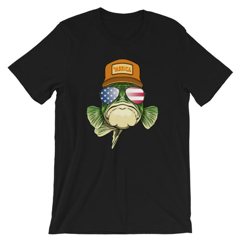 Image of Merica Bass Short-Sleeve T-Shirt