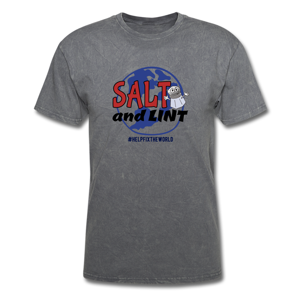 Official Salt And Lint T-Shirt - mineral charcoal gray
