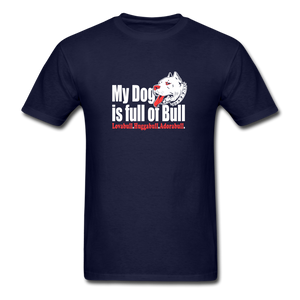 Fun Pitbull Lovers T-Shirt - navy
