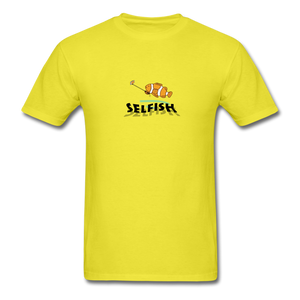 Clown fish selfie T-Shirt - yellow