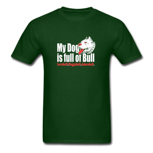 Fun Pitbull Lovers T-Shirt - forest green