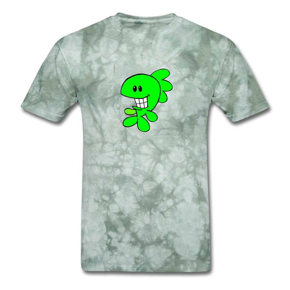 Smiley Bass T-Shirt - military green tie dye