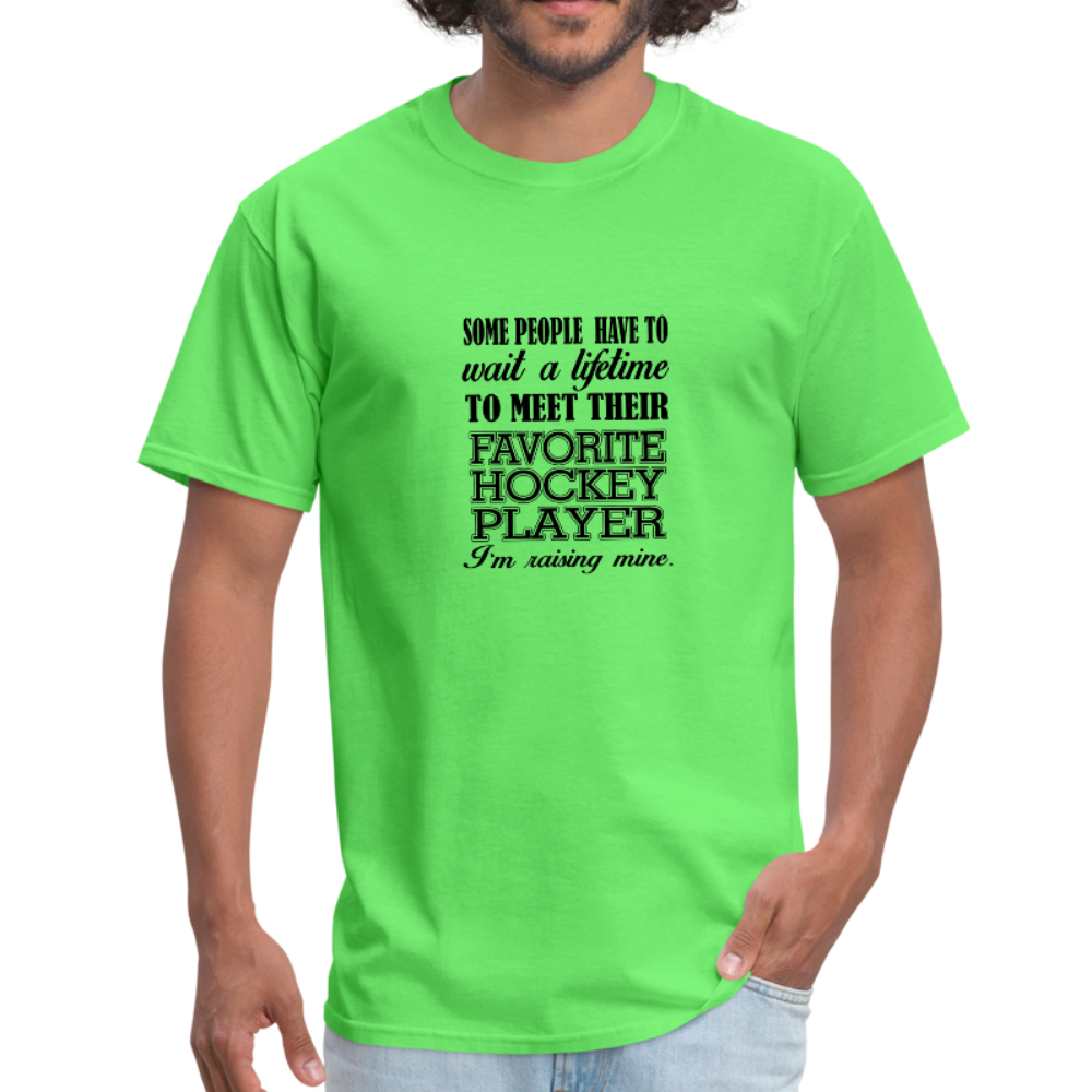Hockey Parent T-Shirt - Fun For Mom or Dad - kiwi