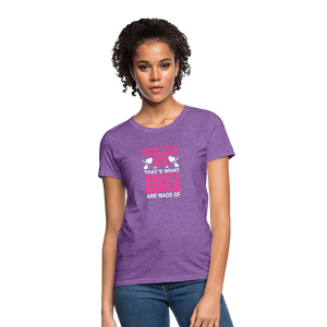Sugar and Spice and Everything Ice - Girls Hockey Shirt - purple heather