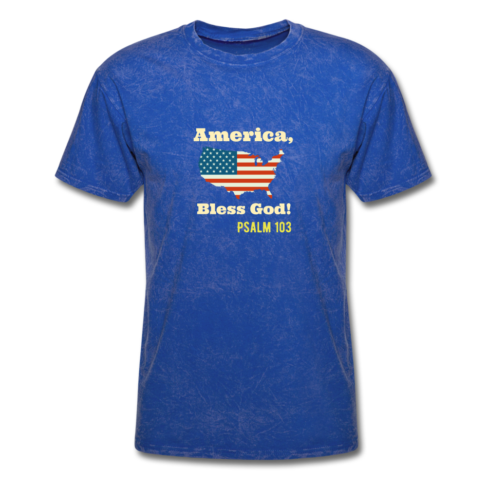 America, Bless God! T-Shirt - mineral royal