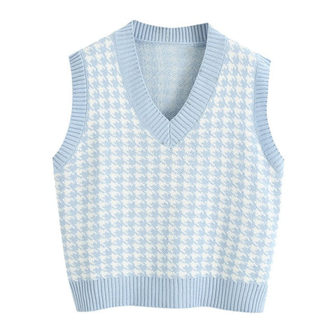 Loose Knitted Sweater Vest