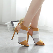 Load image into Gallery viewer, Ankle Strap High Heels Open Toe  Sandals - SaltyandCozy