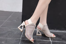 Load image into Gallery viewer, Pee toed Sandals Shoes Woman High Heels Shoes Fashion Hollow out Heart Heel - SaltyandCozy