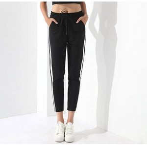Black Casual Striped Pants - SaltyandCozy