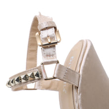 Load image into Gallery viewer, Women Wedges Sandals  Straw Rivet Buckle Strap Platforms - SaltyandCozy