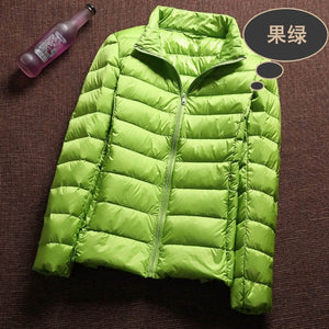 Ultra Light 90% White Duck Down Jacket - SaltyandCozy