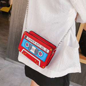 Summer Small Shoulder Bag Tape Recorder Chain Crossbody Bag