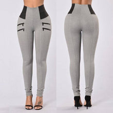 Load image into Gallery viewer, Women Skinny Slim Fit  High Waist Stretch Pants Zippered Accent - SaltyandCozy