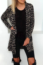 Load image into Gallery viewer, Womens Leopard Print Cardigan Long Sleeve - SaltyandCozy