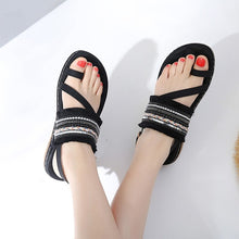 Load image into Gallery viewer, Summer  Flat Sandals  Bohemia Flip Flop Frayed Fringe Tassel Casual Beach Sandals