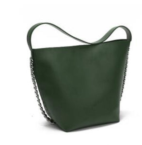 Bucket Bag Leisure Chain Decoration Wide Shoulder Strap Tote