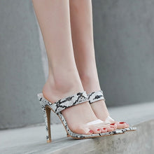 Load image into Gallery viewer, Slingback Stilettos  High Heels Sandals Transparent