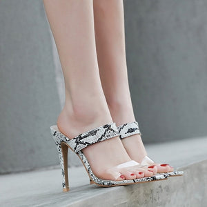 Slingback Stilettos  High Heels Sandals Transparent