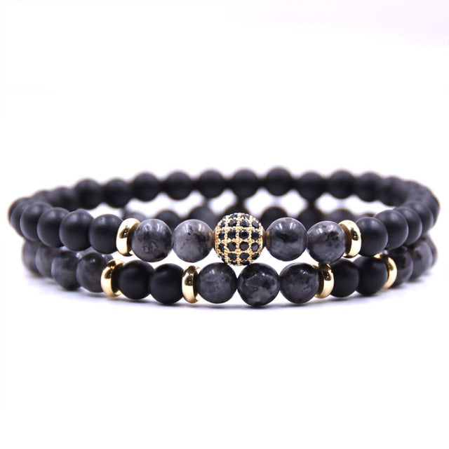 Charcoal Lux Pave Bracelet Set - Thrive Trend