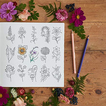 Load image into Gallery viewer, World of Flowers Adult Coloring Book