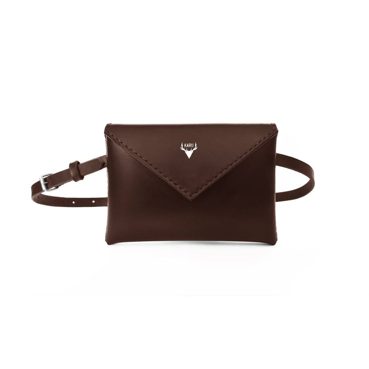 Envelope Belt Bag | Dark Brown