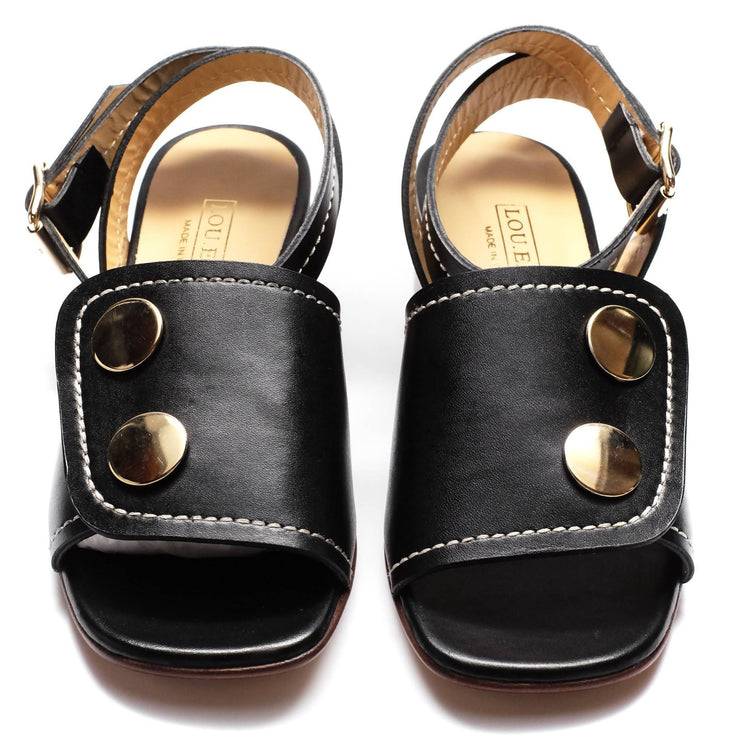 Fialta Sandals in Jet Black
