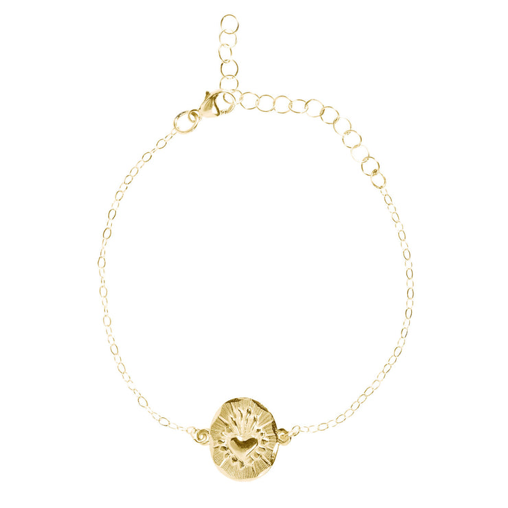 Corazon Chain Bracelet Brass