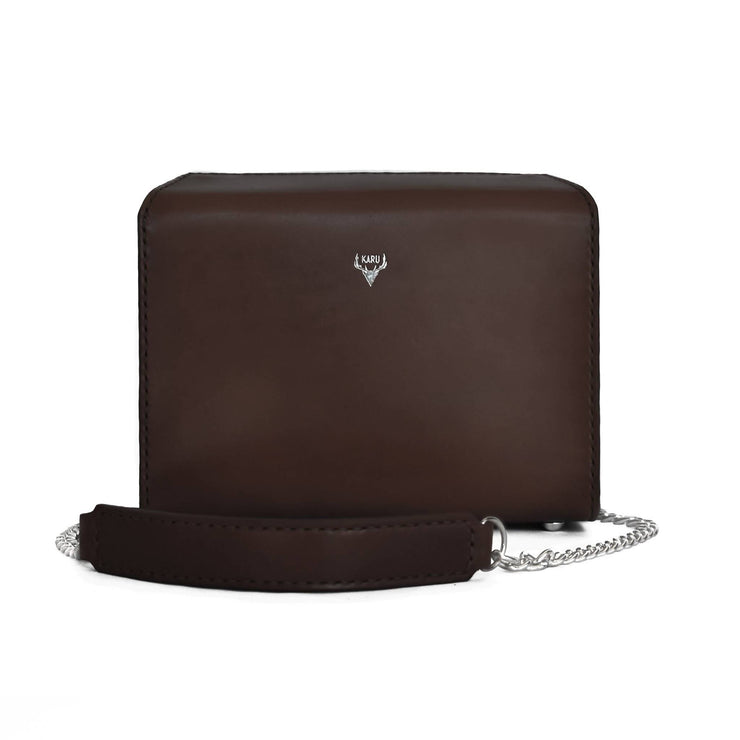 Fold-Over Satchel | Dark Brown