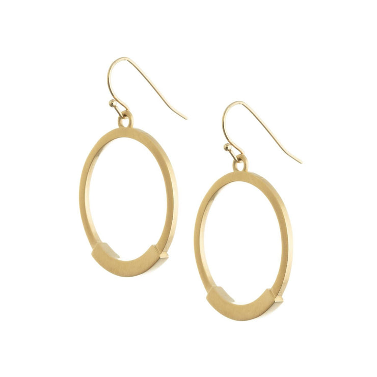 Pia Small Drop Hoops