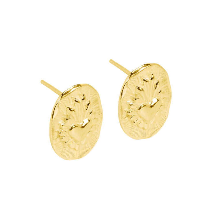 Corazon Studs Gold Micron Plated