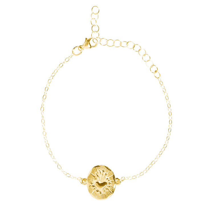 Corazon Chain Bracelet Gold Micron Plated