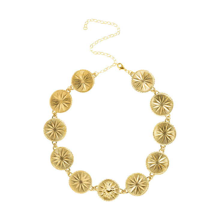 Corazon Statement Collar Gold Micron Plated
